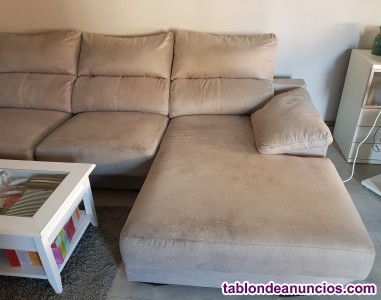Vendo sofá con chaiselongue, 200€