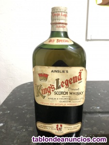 Botella whisky antigua Kings Legend 50's