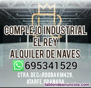 Alquiler de naves industriales. COMPLEJO EL REY