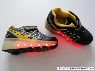 Zapatos con luz y ruedas 31 -32