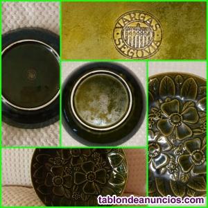 Plato cerámica vidriada gil vargas 1972