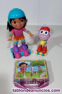 Juego Dora y Botas Patinaje Mattel + regalo puzzle