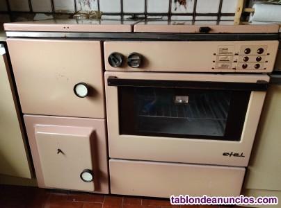 Cocina de leña calefactora