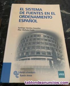 El sistema de fuentes en el ordenamiento español