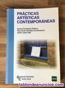 "Vendo ""Prácticas artísticas contemporáneas"" libro."