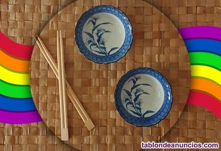 Cuencos japoneses pintados a mano
