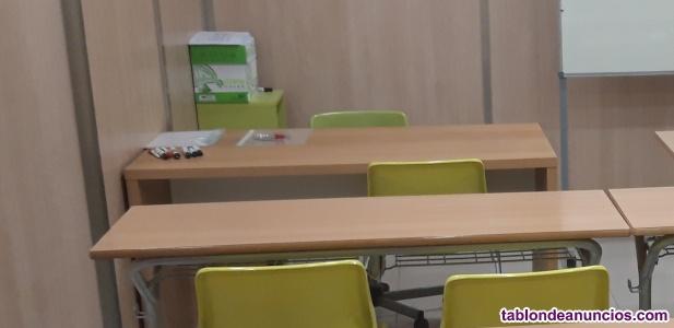 Mobiliario academia ( mesas , sillas , pizarras)
