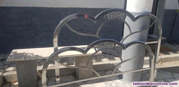 Cabecero y piecero  de cama  de aluminio