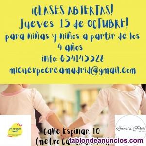Clases de danza para niñas y niños