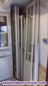 Puertas madera maciza vintage y ventanas