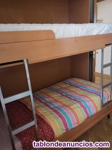 Litera con 2 camas abatibles + COLCHONES