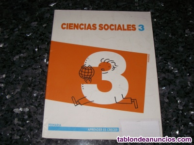 Libro de texto 3º primaria de Ciencias Sociales