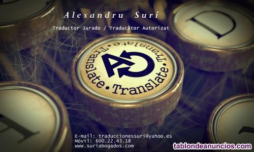 Traductor jurado de rumano /traducator autorizat