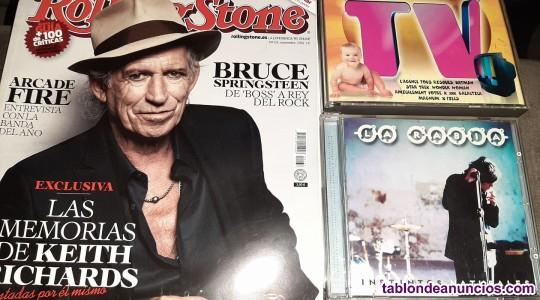 Vendo Lote (3 unidades) : Revista Rolling Stone, Cd MEGA TV y CD La Rabia