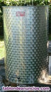 Depósito / tonel de 300 litros acero inoxidable