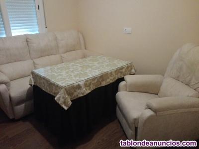 Vendo sofá, mesa camilla y sillón relax