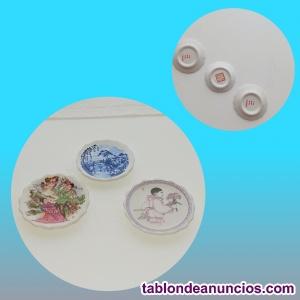 Juego de 3 maniplatos de porcelana china