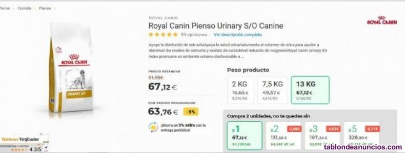 Pienso perro Royal Canin Urinary S/O