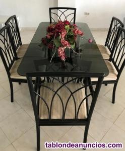 Conjunto mesa + 6 sillas