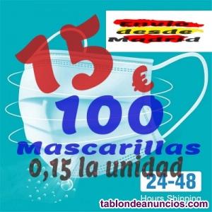 100 Mascarillas Quirúrgicas