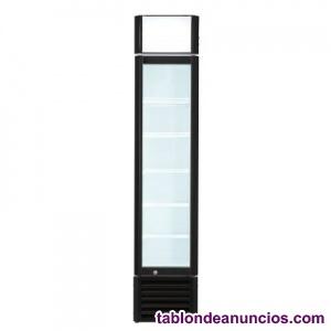 Armario expositor de congelación con puerta de vidrio slim line de 440x500x1930m