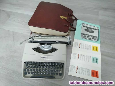 Maquina de escribir underwood 18 con su maletin e instrucciones typewriter años