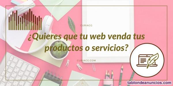 ¿Quieres que tu web venda tus productos o servicios?