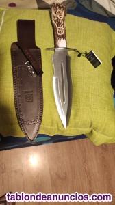 Vendo cuchillo Joker CT42 asta de ciervo, nuevo, sin estrenar