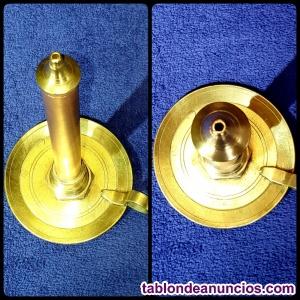 Vela candil de bronce y cobre