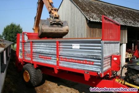 Remolque esparcidor de estiércol 11.000 kg