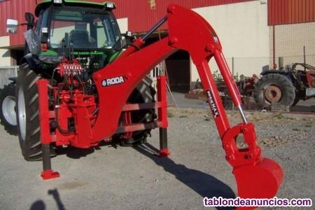 Retroexcavadora maxi/super/plus mÓvil roda para tractores stándard de 60 a 140 cv