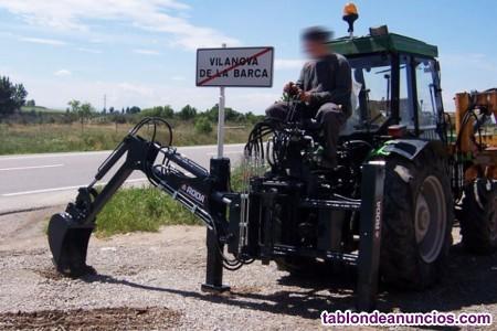 Retroexcavadora mini fija roda para tractores fruteros