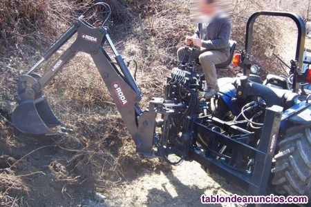 Retroexcavadora extra móvil roda para tractores stándard de 60 a 80 cv