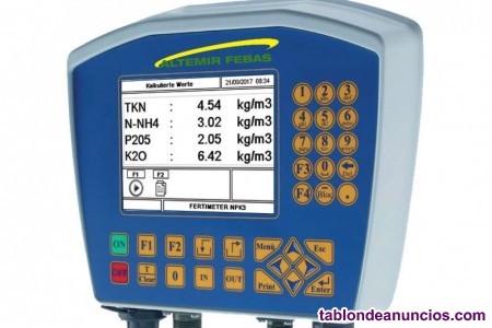 Conductímetro medidor de nutrientes para el purín