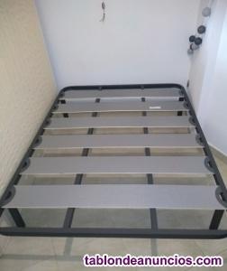 Cama completa, somier y colchón 135x190
