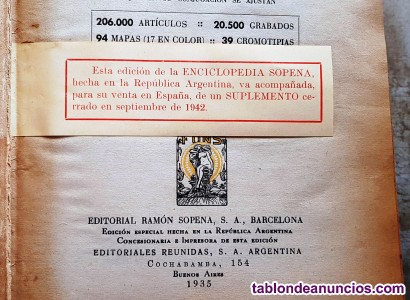ENCICLOPEDIA SOPENA. NUEVO DICCIONARIO ILUSTRADO DE LA LENGUA ESPAÑOLA. Edición