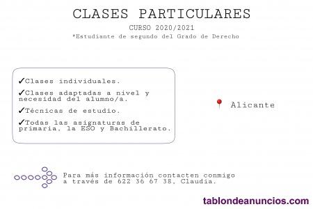 Clases particulares de primaria, la ESO y Bachillerato.