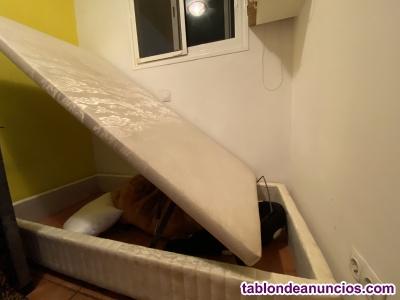 Canapé con almacenaje para colchón de 90