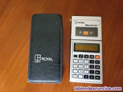 Calculadora micro cassette royal memocalc litton, con su funda - no funciona -