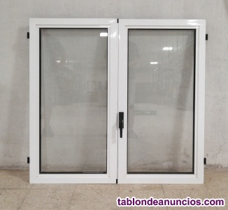 Ventana doble de aluminio 116x122cm