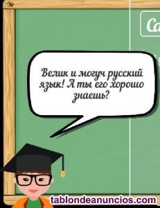 Clases particulares de Ruso