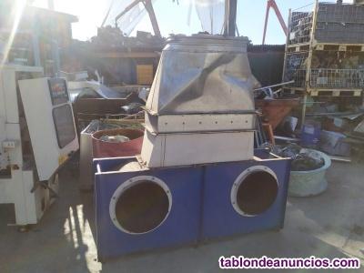 Conjunto de ventiladores centrifugos para extracion de aire de industria