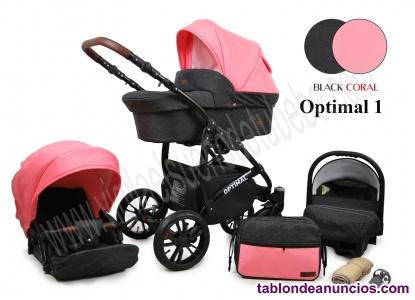 Carrito de bebe rosa y moderno Optimal