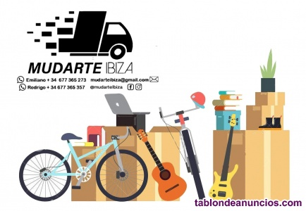 """Transportes y Mudanzas """"Mudarte Ibiza"""" 677 365 273"""