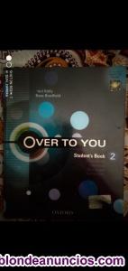 Se vende libro de inglés 2 bachillerato over to you