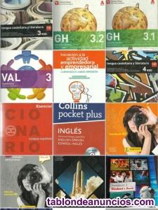 Se venden libros de varios cursos