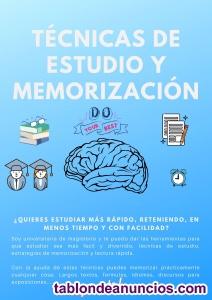 Técnicas de estudio y de memorización