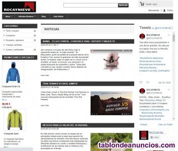 Traspaso tienda online de deportes de montaña