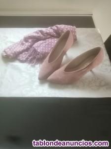 Zapatos salon rosa