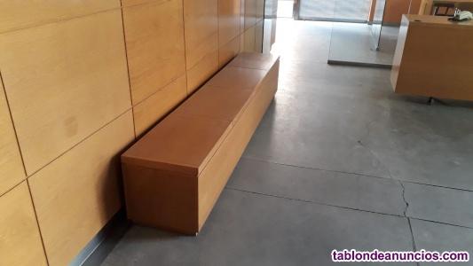 Arcón-asiento para sala de espera